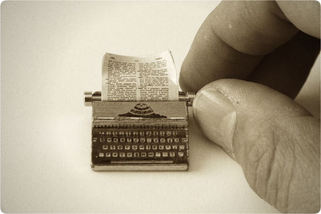 Tiny typewriter